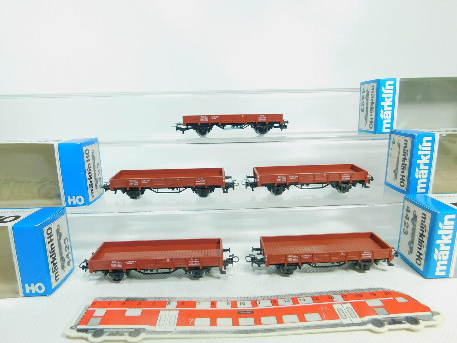 Bp59-1 X Märklin H0   Ac 4423 Vagón de Bordes Bajos   Mercancía Db Muy Buen
