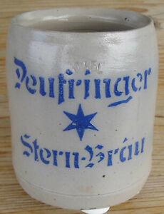 Deufringen Brauerei Stern Bräu Bierkrug x 1920 vorne 0,35 L