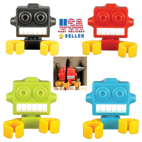 Novelty Robot Style Toothbrush Holder Suction Cup Bathroom Multi Function