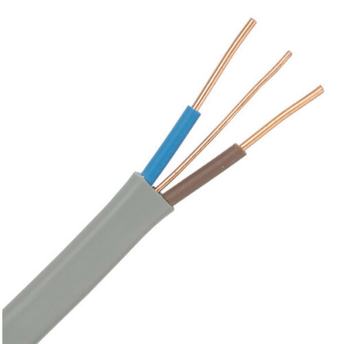 1.5 mm 3 core twin et terre câble 50m Rouleau pour l/'éclairage et autres puissance
