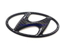 Hyundai Black Carbon Fiber Santa Fe Emblem 05-06 Rear Trunk Badge Genuine OEM