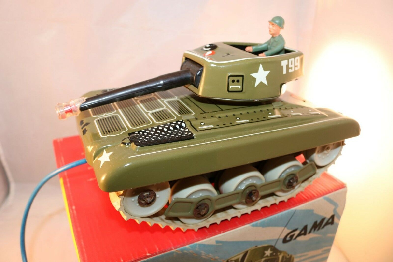 Gama 9938 tank blech in working order near mint in box all original mit OVP