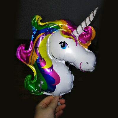1/10Pcs Unicorn Balloon Aluminum Foil Cartoon Kids Birthday Party Wedding Decor