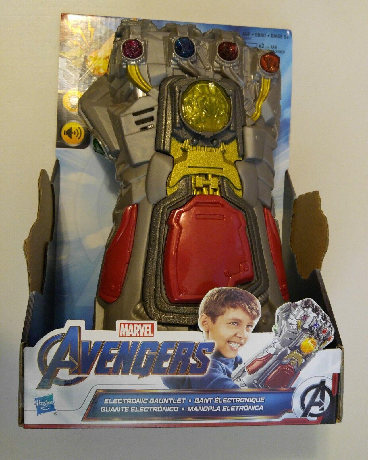 Hasbro Marvel Endgame Ironman Infinity Gauntlet Electronic Lights and Sounds HTF