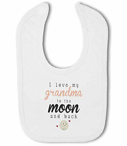 I love my Grandma to the Moon and Back cute Baby Bib by BWW Print Ltd
