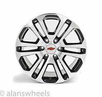 "Chevy Silverado Avalanche Machined Black Red Bowtie 20"" Wheels Rims Ck158"