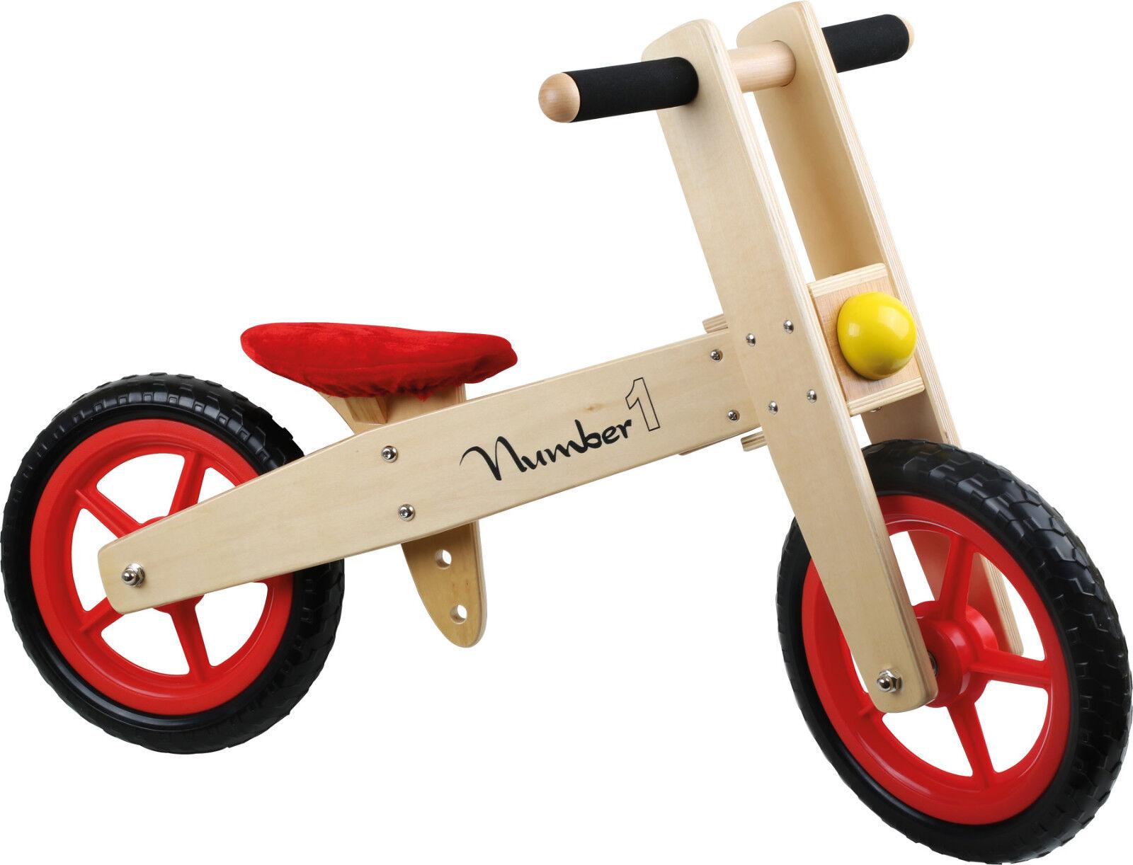 Laufrad aus Holz Kinderfahrzeug Sitzhöhe höhenverstellbar Kinder ab 3 Jahre NEU