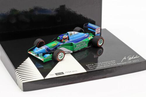 Mick Schumacher Benetton B194 #5 Demo Run GP Spa Formel 1 2017 1:43 Minichamps