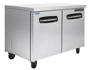 Nor-Lake-AdvantEDGE-NLUF48-48-inch-2-Door-Undercounter-Worktable-Freezer