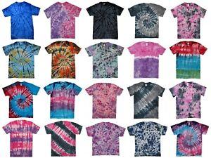 TIE-DYE-T-SHIRT-Top-Rainbow-Tye-Die-Tee-Tshirt-Festival-Retro-Men-Women-Child-T