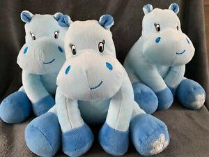 116-Lot-de-3-Peluche-doudou-hippopotame-bleu-hochet-ARTHUR-ET-LOLA-Comme-neuf