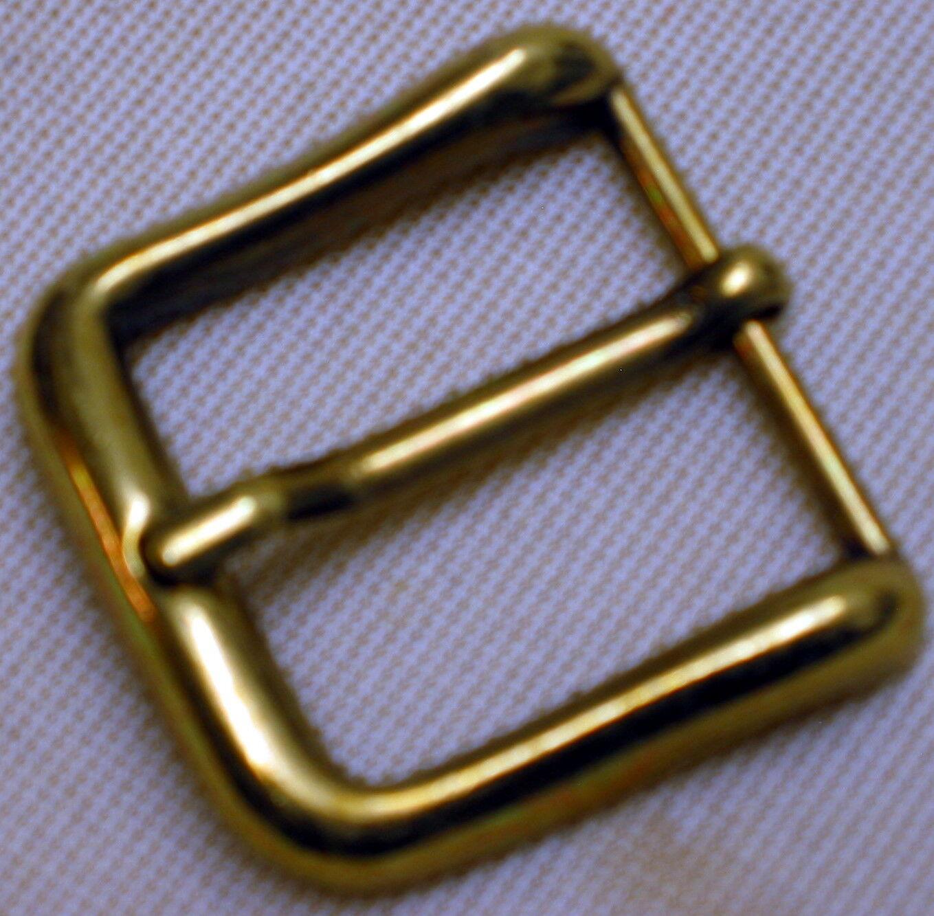 1A Gürtelschnalle MASSIV Metall NEU für 30mm breite GÜRTEL Farbe: MESSING Top #