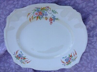 "Alfred Meakin Cascadia Floral Meat Plate Lovely 11.5"" By 9.75"" Online Shop Pottery, Porcelain & Glass Pottery"