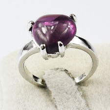 Amethyst Gemstone Fashion  Jewelry 925 Silver Men Women Ring Size 9