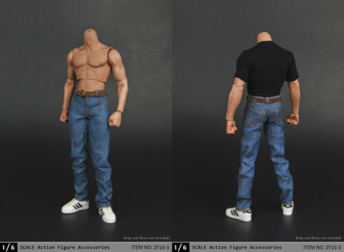 "1//6 vêtements Captain America T Shirt Jeans Set Pour 12/"" Hot Toys figure masculine USA"