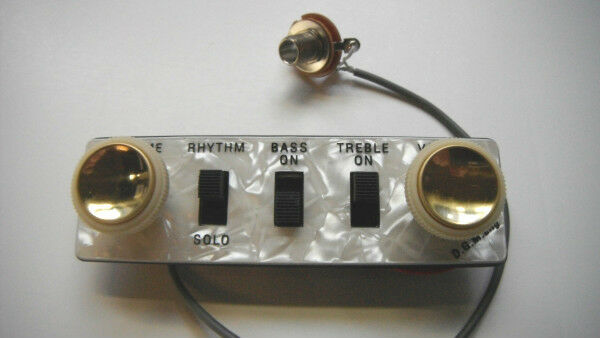 NEW ORIGINAL HOFNER CT BEATLE BASS CONTROL PANEL ASSEMBLY W  TEACUP KNOBS