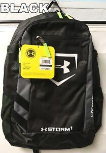 Under Armour Hustle Storm Adult Batpack Bat Bag Backpack, Black, UASB-HBP, NEW!