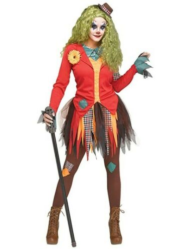 Rowdy Clown Costume 2 Sizes Adult Joker