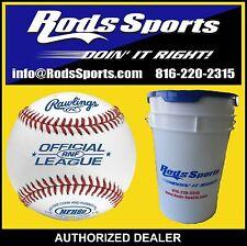 5 Dozen Rawlings RNF NFHS Official League Leather Baseballs High School w/Bucket