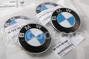 4X OEM BMW ROUNDEL WHEEL CAP EMBLEM BADGE CENTER CAP 68 MM 1 3 5 6 7 X3 X5 Z4 U