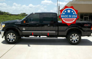2008-2016-Ford-F-250-F-350-Crew-Cab-Body-Side-Molding-4Pc-Trim-1-034-SuperCrew
