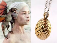 Game of Thrones Inspired Drogon DRAGON EGG Pendant NECKLACE Daenerys Khaleesi