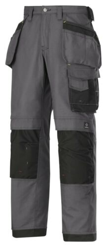 NEW COLOUR SNICKERS 3214 WORK TROUSERS HOLSTER POCKETS STEEL GREY-BLACK