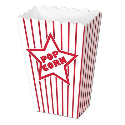 8 PAPER POPCORN BOXES*Carnival*CIRCUS B-DAY PARTY*Movie Night*