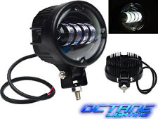 "5.5"" Black Oval Off Road Cree White LED Auxiliary Fog Flood Light 6k 40w 4000 Lm"