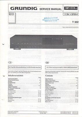 T 302 Service Manual Anleitung Schaltplan Für Tuner Schlussverkauf Grundig B6555