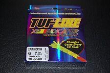TUF-Line XP Indicator 6 lb Test 300 yards Green Yellow Red Braid Fishing Line