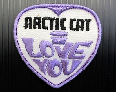 """New Vintage Embroidered  Arctic Cat  /""""Turpentined Cat/""""  Snowmobile Patch   NOS"""