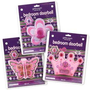 Princess Flower Or Butterfly Bedroom Doorbell Childrens Room Decor Ebay
