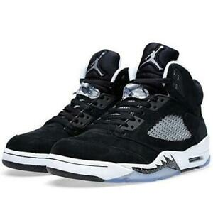 75915583470094 2013 Nike Air Jordan 5 Retro Size 8.5 OREO Black Suede White Grey OG ...