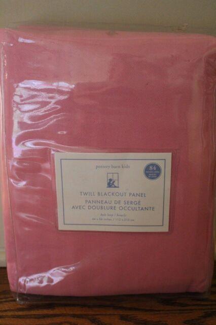 NWT Pottery Barn Kids Twill blackout drape curtain panels bright pink 44x84