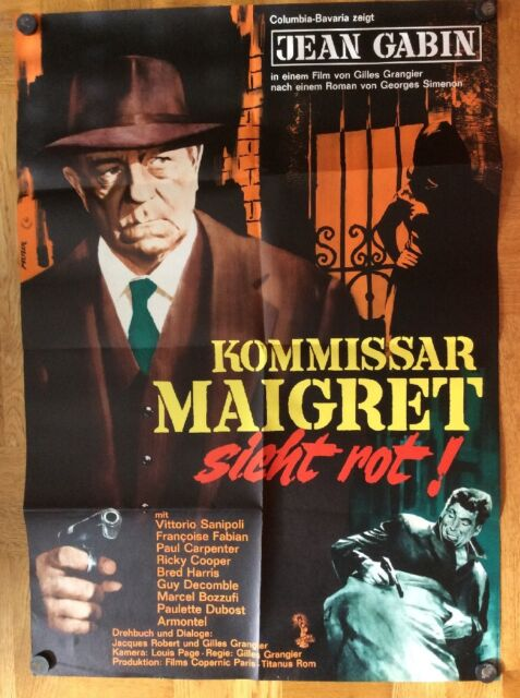 Kommissar Maigret sieht rot (Kinoplakat '63) - Jean Gabin