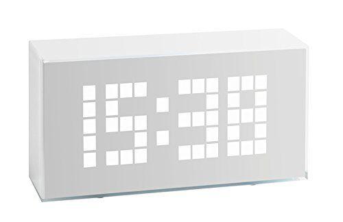 TFA, Sveglia Sveglia Sveglia digitale con cifre luminose, Bianco (bianca) (C1s) a31a04