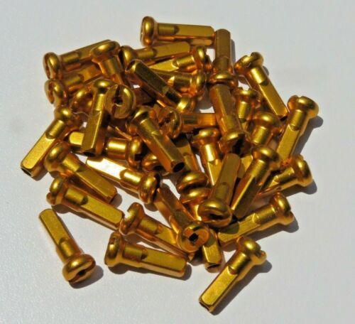 Custom amounts 2.0mm 14mm GOLD Alloy Aluminum spoke nipple 14g