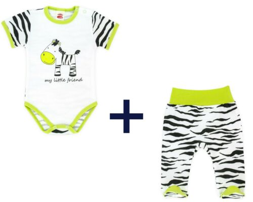 Shirt Bodysuits Trousers Sleepsuit Boys Girls Baby Zebra Cotton size up to 92