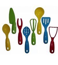 Childrens Childs Kids Mini Plastic Kitchen Cooking Play Set Utensils 8 Pcs For Sale Online Ebay