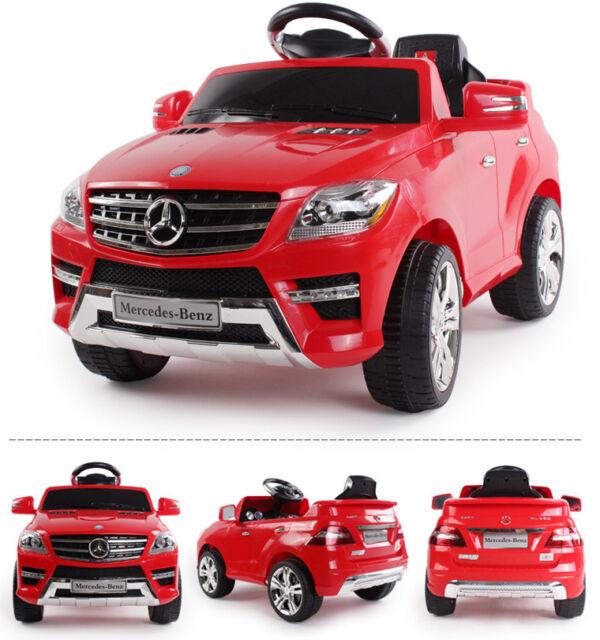 Mercedes-Benz ML 350 SUV Kinderauto Kinderfahrzeug Kinder Elektroauto (rot)