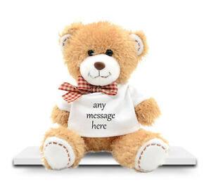 701ebe20b35 Image is loading Personalised-Teddy-Bear-With-Any-Message-VALENTINE-039-