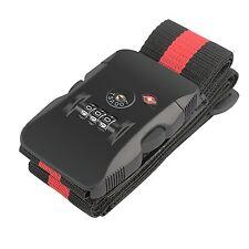 BlueBeach TSA Luggage Strap Travel Lock for Suitcase Security 3 Digit Padlock