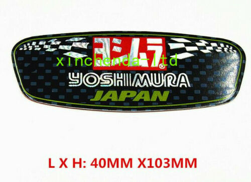 3D Yoshimura Aluminium Heat-resistant Motorcycle Decal Exhaust Pipes Sticker