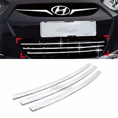 for HYUNDAI 2011 - 2017 Accent Verna Chrome Radiator Grille Garnish Molding C743