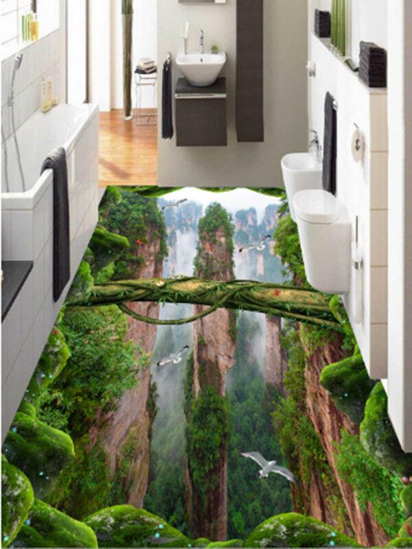 3D Berge Wald 590 Fototapeten Wandbild Fototapete Tapete Familie DE Summer