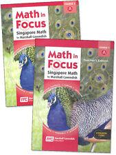 6th Grade Math in Focus Semester 1 6A Student Teacher Edition Course 1 Kit 6
