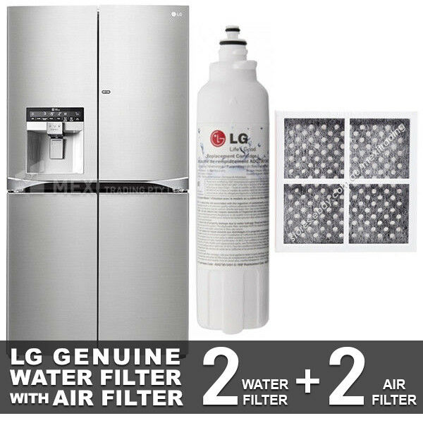 2X LG GENUINE FRIDGE FILTER FOR GF-5D906SL + 2X LG AIR FILTER LT120F