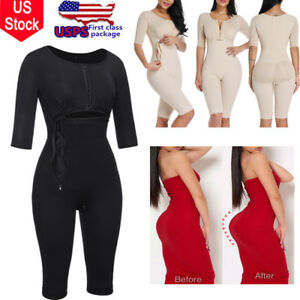 Women Full Body Shaper Waist Trainer Zip Bodysuit Post Surgery Fajas Reductoras