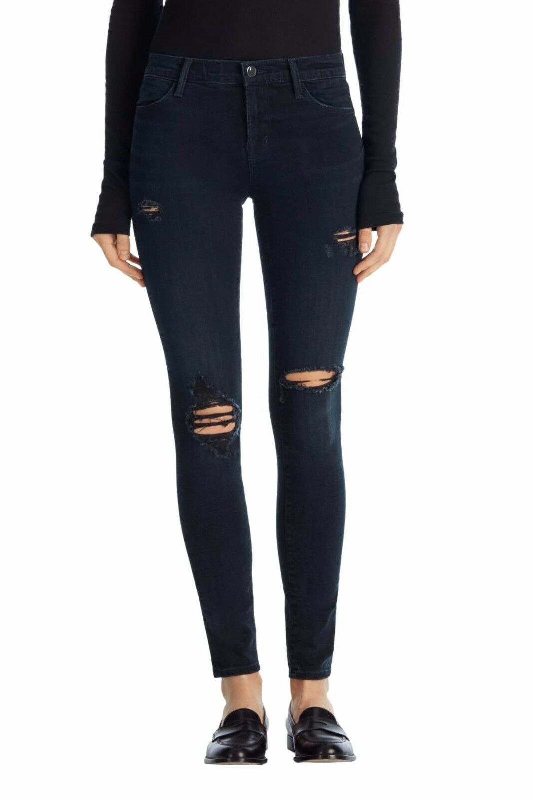 NWT J Brand Maria High Rise Skinny Destructed Sanctity(Dark Navy) 24,25
